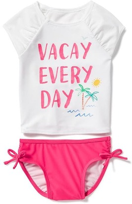 "2-Piece ""Vacay Every Day"" Graphic Rashguard Set for Toddler $19.94 thestylecure.com"