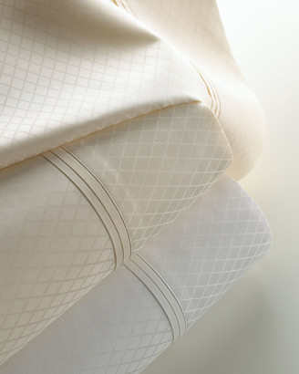 Matouk King 600 Thread Count Diamond Jacquard Sateen Sheet Set