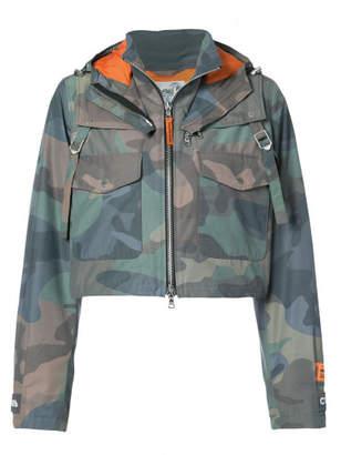 Heron Preston cropped camouflage jacket