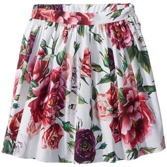 Dolce & Gabbana Poplin Peonie Skirt Girl's Skirt