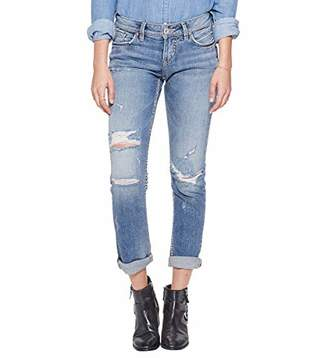 Silver Jeans Co. Women's Suki Curvy Fit Mid Rise Ankle Slim