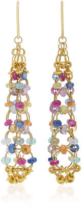 Mallary Marks Eiffel Tower 18K Gold Multi-Stone Earrings
