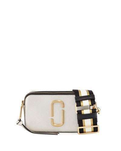 Marc Jacobs Metallic Snapshot Leather Camera Bag