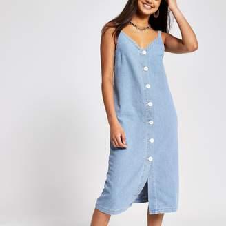 River Island Womens Light Blue denim maxi dress