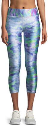 Terez Tall Band Printed Capri Leggings