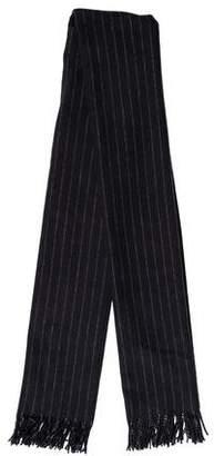 Hermes Pinstripe Cashmere Muffler