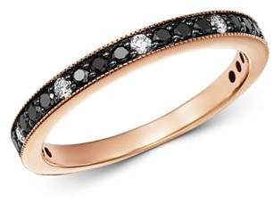 Bloomingdale's Black & White Diamond Stacking Band in 14K Rose Gold - 100% Exclusive