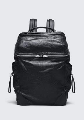 Alexander Wang WALLIE BACKPACK IN WAXY BLACK WITH RHODIUM