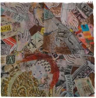 Faliero Sarti postcard printed scarf