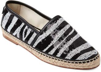 Dolce & Gabbana Black & White Zebra Sequin Espadrilles