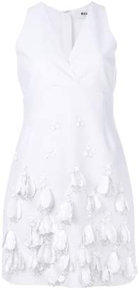 MSGM V-neck embellished dress