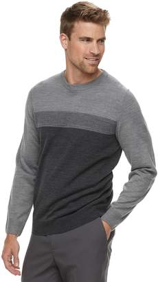 Croft & Barrow Men's Classic-Fit Crewneck Color block Sweater