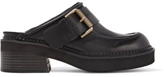 See by Chloé - Buckled Leather Slippers - Black $360 thestylecure.com