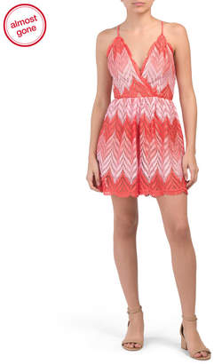 Dress the Population Made In Usa Brigitte Chevron Romper