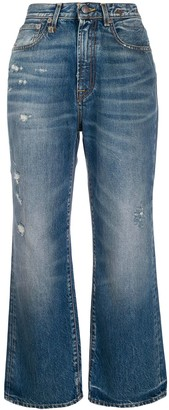 R 13 high rise Riley jeans