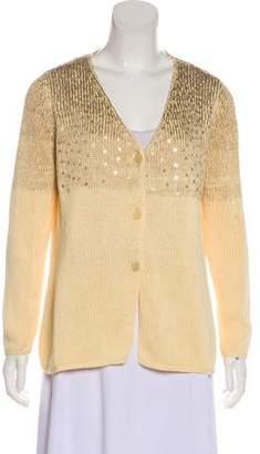 Brunello Cucinelli Sequin Button-Up Cardigan
