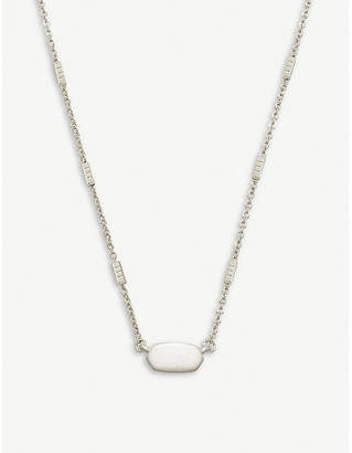 Kendra Scott Fern rhodium-plated necklace
