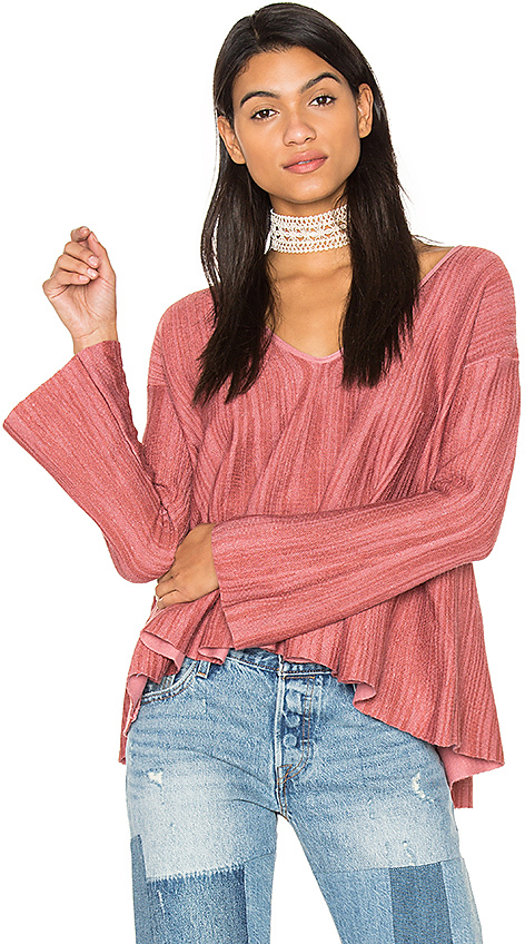 Free People Sundae Pullover Top in Pink