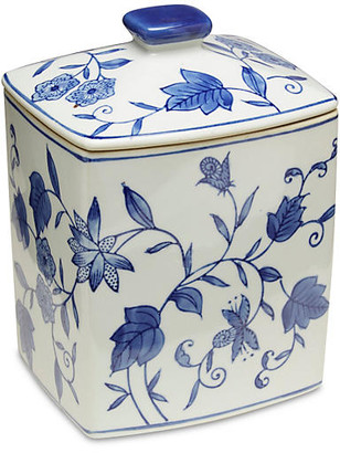 "One Kings Lane 8"" Paget Canister - Blue/White"