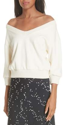 3.1 Phillip Lim French Terry Crop Sweater