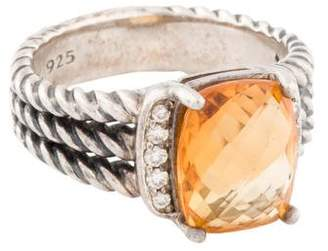 David Yurman Citrine & Diamond Petite Wheaton Ring