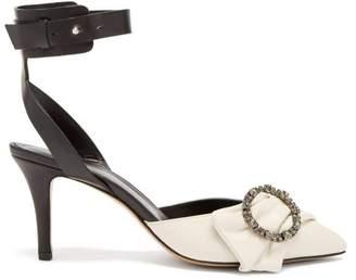 Isabel Marant Pavona Crystal Embellished Buckle Pumps - Womens - Black White
