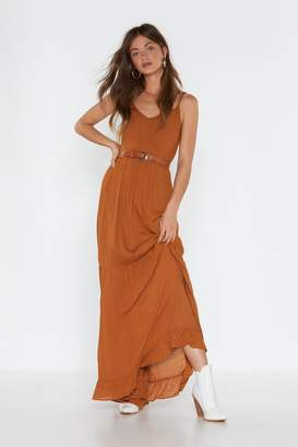 Nasty Gal Maxi for One Ruffled Hem Dress