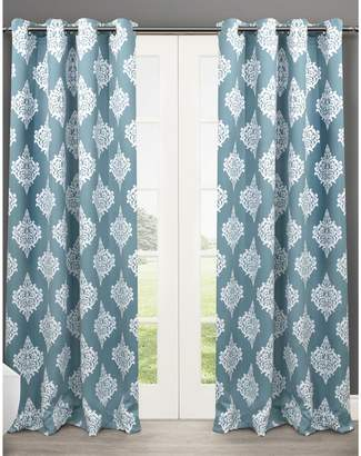 Home Outfitters Set of 2 63In Medallion Thermal Blackout Grommet Top Curtain Panels