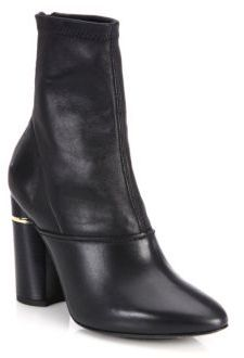 3.1 Phillip Lim Kyoto Stretch Leather Block-Heel Booties $795 thestylecure.com