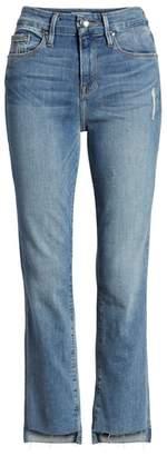 Good American Good Straight Raw Hem Straight Leg Jeans