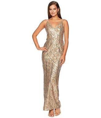Adrianna Papell Sequin Long Dress