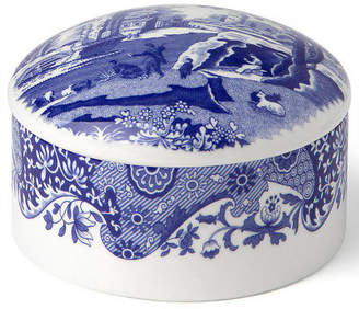 Spode NEW Blue Italian Round Trinket Box