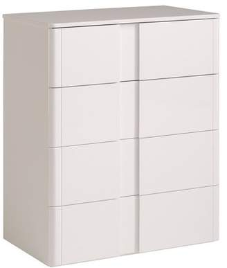 """Parisot Wesley High Gloss White 39"""" 4 Drawer Tall Chest"""