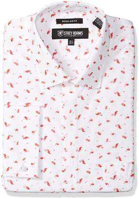 Stacy Adams Men's Big and Tall Flamingo Classic Fit Dress Shirt