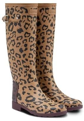 Hunter Leopard Print Refined Tall Rain Boot