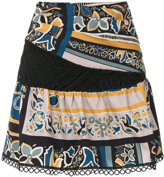 MONICA Martha Medeiros Sta. printed skirt