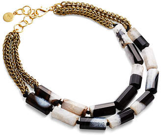 Nest Black & White Agate Necklace