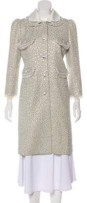 Peter Som Jacquard Knee-Length Coat
