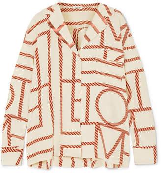 Totême Salvador Printed Silk-satin Shirt - Cream