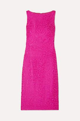 Brandon Maxwell - Cloqué Midi Dress - Fuchsia