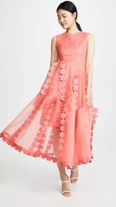 PASKAL clothes Sleeveless Double Layered cascade dress