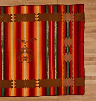 Rejuvenation Striped Wool Blanket w/ Masonic Eastern Star Motif