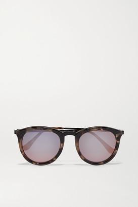 Le Specs - No Smirking Round-frame Acetate Mirrored Sunglases - Tortoiseshell $80 thestylecure.com