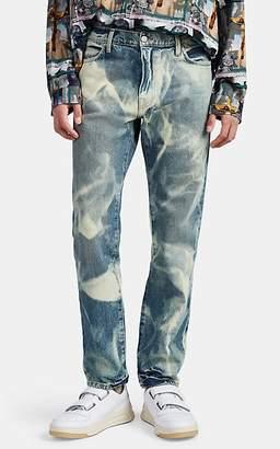 424 X Armes Men's Bleach-Dyed Slim Jeans - Navy