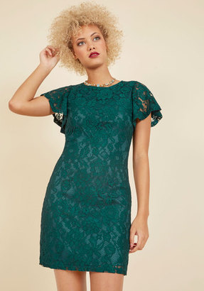Mystic Fashion Front Row Mentor Lace Dress in Juniper $69.99 thestylecure.com