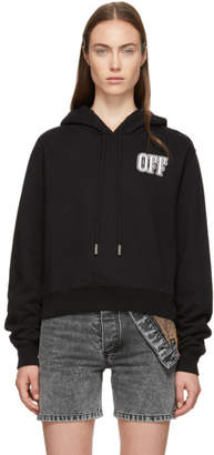 Off-White Black Lips Cropped Hoodie