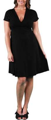 24/7 Comfort Apparel Women's Plus Size Empire Dress