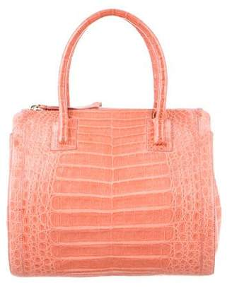 Nancy Gonzalez Crocodile Double-Zip Work Tote