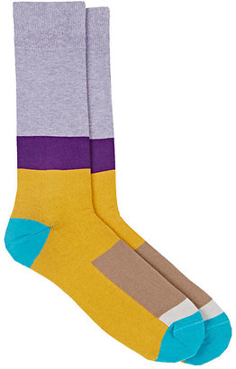 Paul Smith Men's Go-Go Colorblocked Mid-Calf Socks $30 thestylecure.com