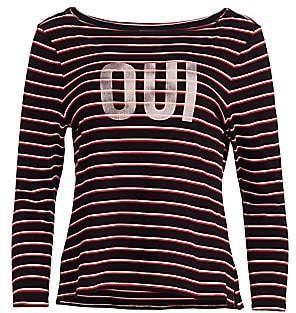 Cinq à Sept Women's Oui Breton Stripe Top